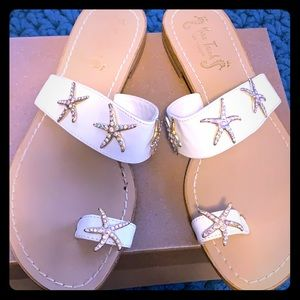 Starfish embellished sandals